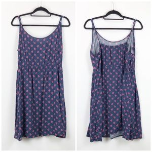 Gap Blue Floral Print Tank Dress